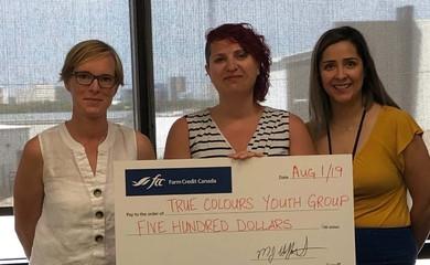 True Colours receives donation