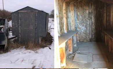 Jewison ice shack rehab