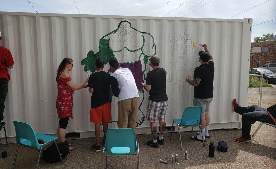 New mural at Sport Venture