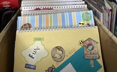 Preserving positive experiences through scrapbooking